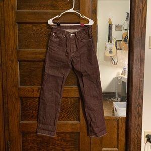 Maroon Levi's 501 jeans